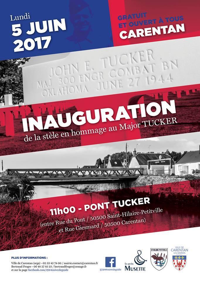 Inauguration stèle major tucker