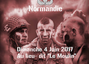 Ceremony in honor of the american paratroopers brevands 2017 France