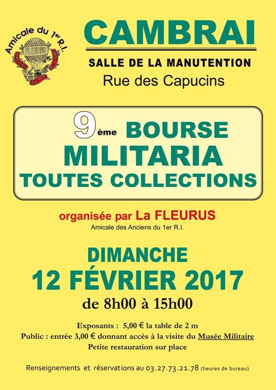 Affiche 9ème Bourse Militaria à Cambrai
