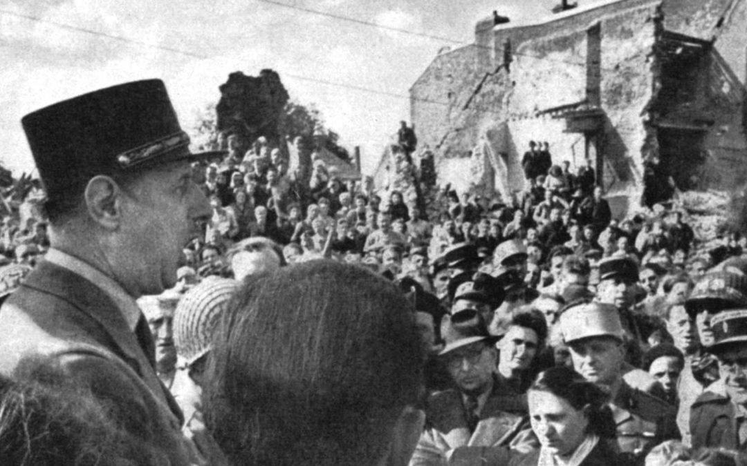 Général De Gaulle is in Isigny sur Mer