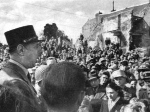 Général de Gaulle in Isigny sur Mer
