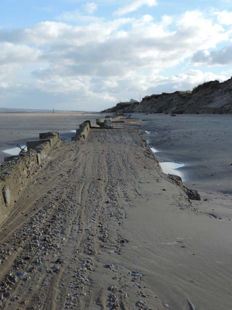 Utah beach, the anti-tank wall