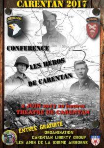 """Conférence """"Les Héros de Carentan"""""""