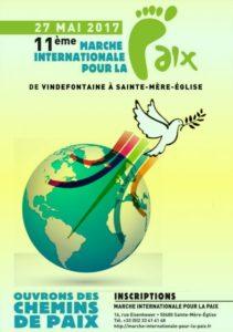 Affiche Marche Internationale pour la Paix Manche 2017