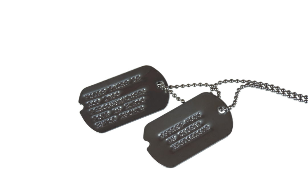 US Army Dog Tags markings